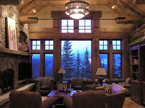 living room caign koselig log cabin interior photo traditional living
