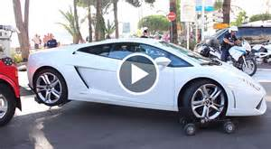 Lamborghini Trucks How Not To Load A Lamborghini Onto A Tow Truck