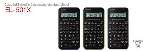 Sharp Calculator El 501x Scientific Kalkulator Kuliah El 501 X scientific calculators sharp
