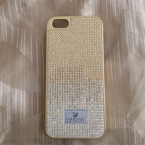 Swarovski Casing For Iphone 66s 69 swarovski accessories swarovski gold iphone 5
