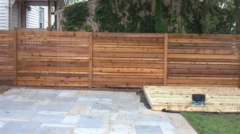 Horizontal Wood Fence Design Horizontal Wood Fence Designs Horizontal Spaced Cedar Customer Design Fences Pinterest