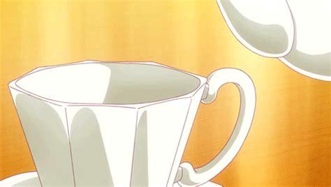 Milk Cup Anime pouring tea gif