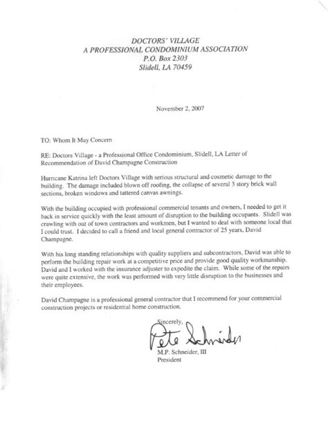 Recommendation Letter Exle Doctor Letters Of Recommendation