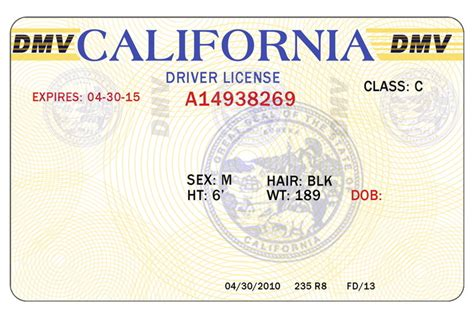 license template california driver license template