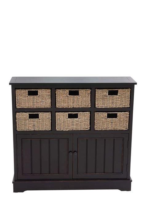 dark wood storage cabinet dark brown wood basket cabinet by uma on hautelook