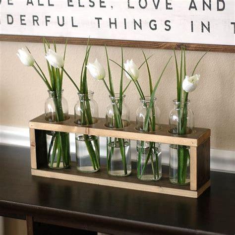 farmhouse table decor flower holder modern rustic