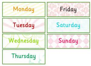 days of the week labels free early years primary teaching resources eyfs ks1
