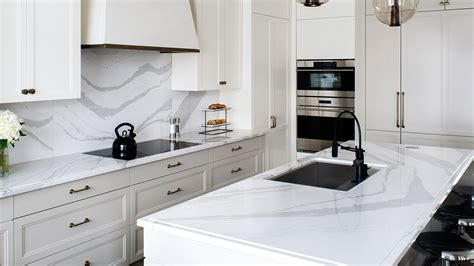 Slab Kitchen Cabinets by Cambria Britannica Quartz Countertops In Mesa Gilbert