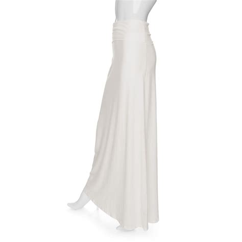 splendid foldover maxi skirt in white lyst