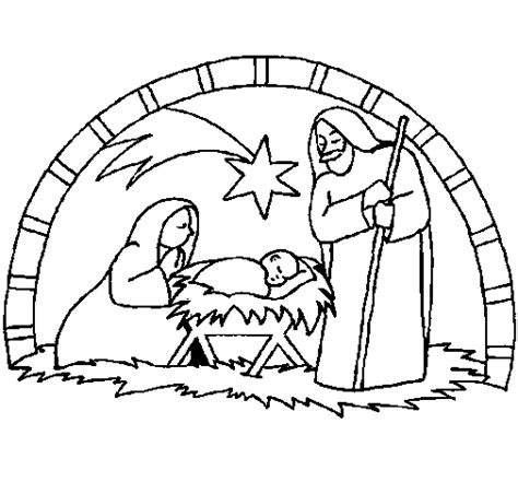 nativity coloring pages in spanish christmas nativity coloring page