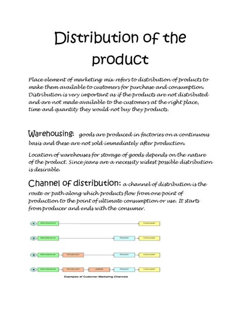 Distribution Channel Project Mba by Marketing Management