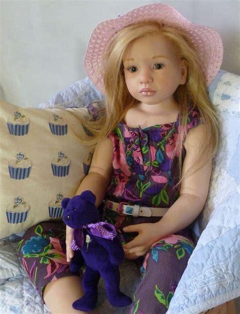 big dolls house reborn baby doll toddler big girl 42 tall rose abella glass eyes human hair nines