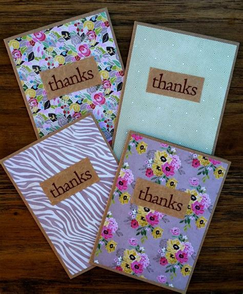 Easy Handmade Thank You Cards - handmade thank you cards use brown paper and photo card