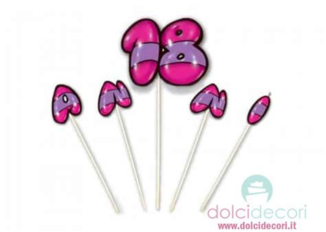 candele compleanno candele per compleanno 18 anni rosa