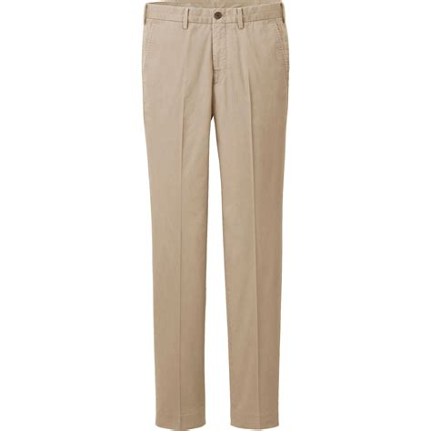 light cotton pants uniqlo beige men lightweight cotton chino slim fit pants