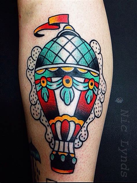 tattoos austin traditional air balloon by nic lynds at affinity