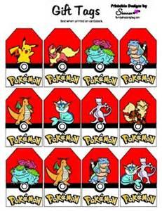 pokemon gift tags pokemon gift tags free printable