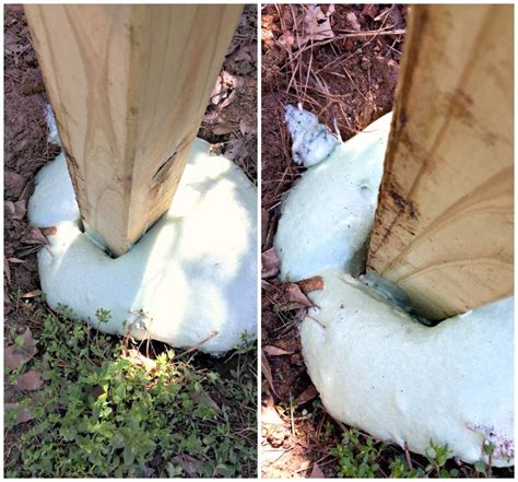 anchor  fence post expanding foam fence post