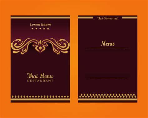 Thai Menu Template Download Free Vector Art Stock Graphics Images Thai Restaurant Menu Templates Free
