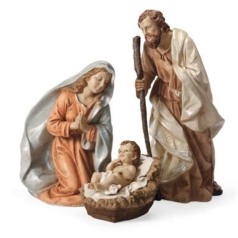 outdoor nativity set of three holy family frontgate