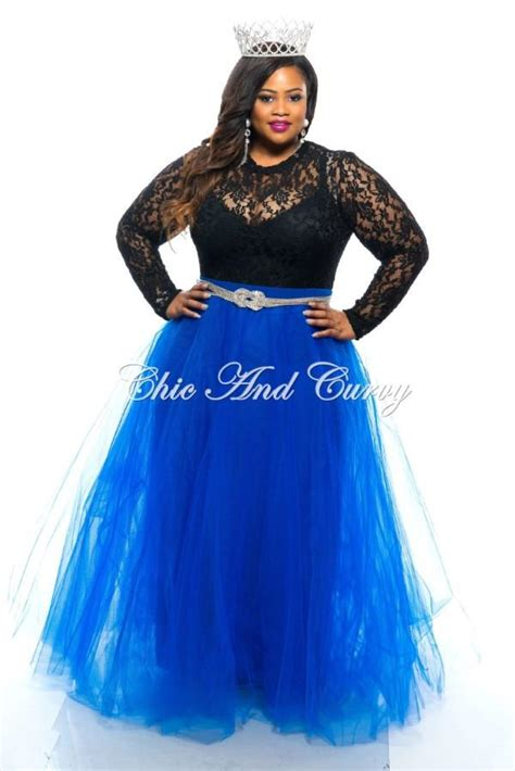 sale plus size tutu skirt in royal blue chic