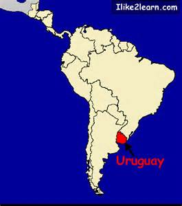 uruguay map in south america uruguay map