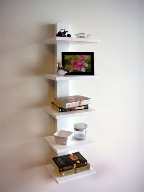 spine wall book shelves white contemporary display and