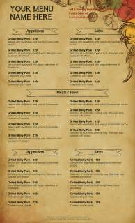Restaurant Menu Templates Word by Doc 15301026 How To Make A Restaurant Menu On Microsoft