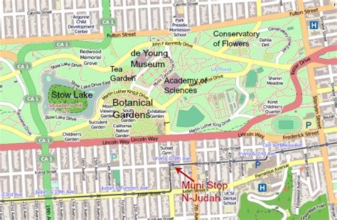 Sf Botanical Garden Map Botanical Garden Of San Francisco