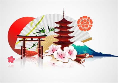 japanese style powerpoint template japan style elements