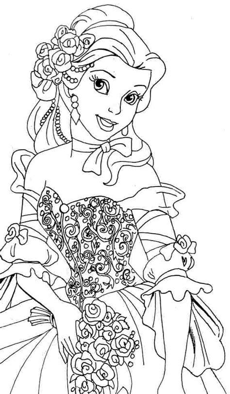 belle coloring pages beauty and the beast coloring pages