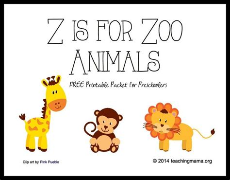 printable jungle alphabet z is for zoo animals letter z printables student