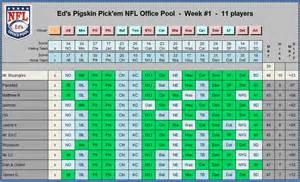 Nfl Office Football Pool Picks Ed S Nfl Office Pool Player Picks