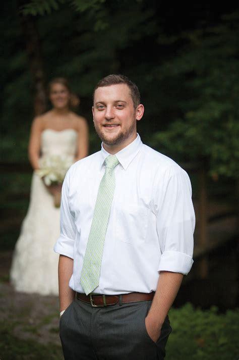 Backyard Wedding Mens Attire Casual Pink Green Wedding Jacob The Pink