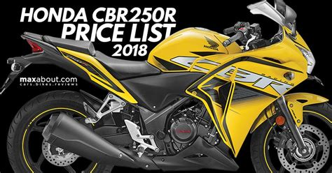 honda cbr bikes price list honda cbr250r price list the most reliable 250cc bike