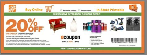 home depot coupon codes promo codes printable coupons