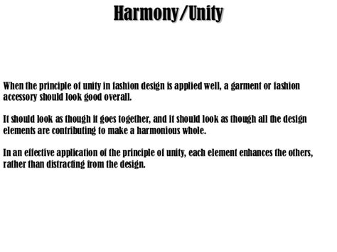 design harmony meaning principlas of design in fashion