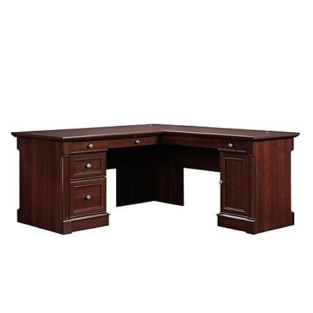 sauder palladia l shaped desk sauder palladia collection l shaped desk select cherry by
