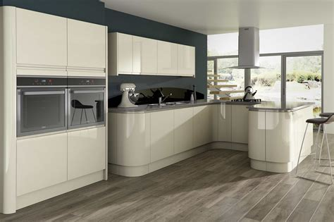 Kitchen Unit Ideas Opal Gloss Kitchen Units For Modern Kitchen With The White High Cabinet Built In