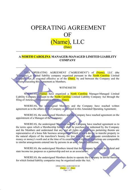 operating agreement llc cre partnership realcreforms