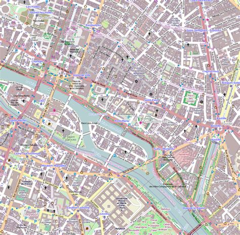 printable street map paris file 4e arrondissement paris france open street map
