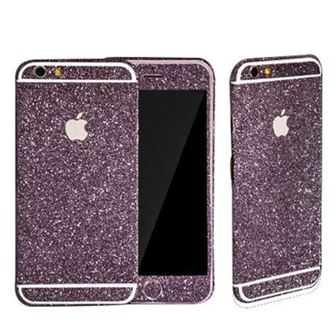 Sticker Glitter Iphone 5 5s purple glitter sticker skin iphone 6 iphone 6 plus iphone