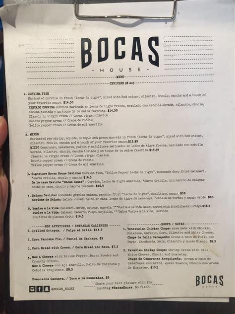 bocas house menu yelp