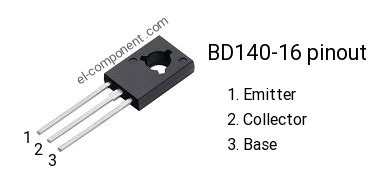 transistor bd140 16 bd140 16 p n p transistor complementary npn replacement pinout pin configuration substitute