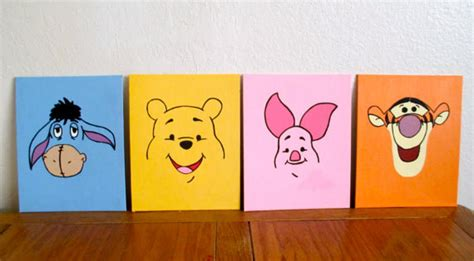 winnie the pooh painting items similar to modern winnie the pooh and friends