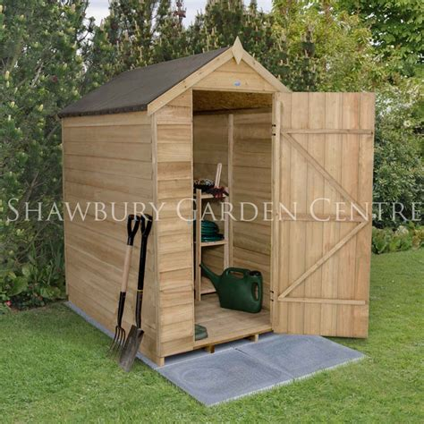 Shed With Assembly by Forest Garden Pressure Treated Overlap 4 X 6 Apex Shed Nw