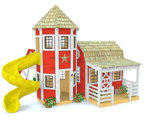 barn silo playhouse plan  kids pauls playhouses