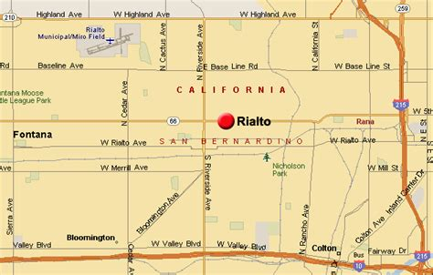 rialto california map rialto map related to real estate listings of homes for