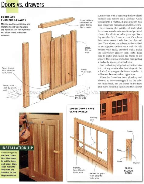 kitchen cabinet woodworking plans kitchen cabinets plans woodarchivist