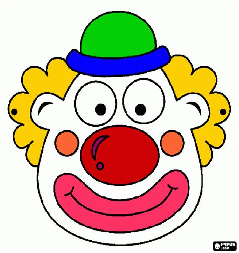 clown mask coloring page printable clown mask